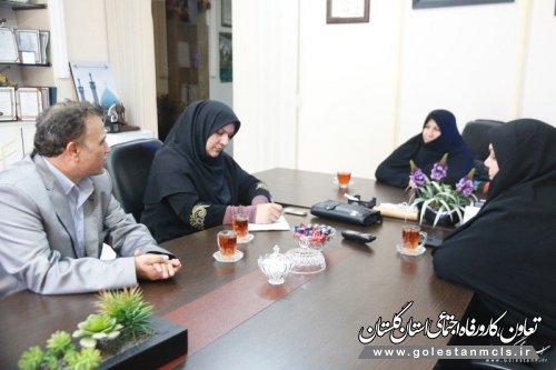 دیدار و نشست سرپرست خبرگزاری البرز گلستان با مدیرکل بهزیستی