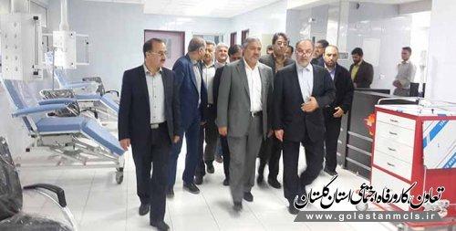 بازدید معاون وزیر تعاون ، کار ورفاه اجتماعی از بیمارستان خاتم الانبیاء(ص) گنبد کاووس
