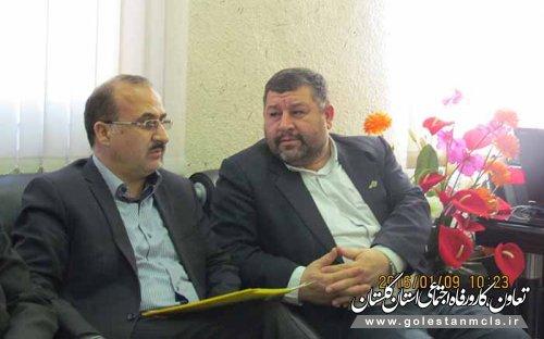 دیدار مدیر کل تعاون،کارورفاه اجتماعی گلستان با فرماندار آزادشهر