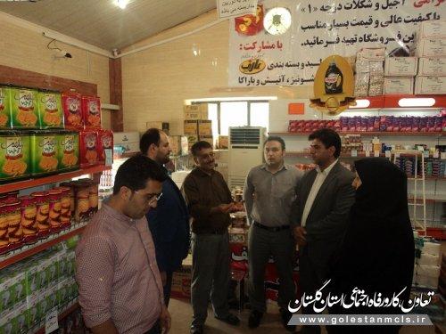 بازدید میدانی رییس اداره تعاون و کار علی آبادکتول از نحوه توزیع بسته حمایت غذایی در شهرستان