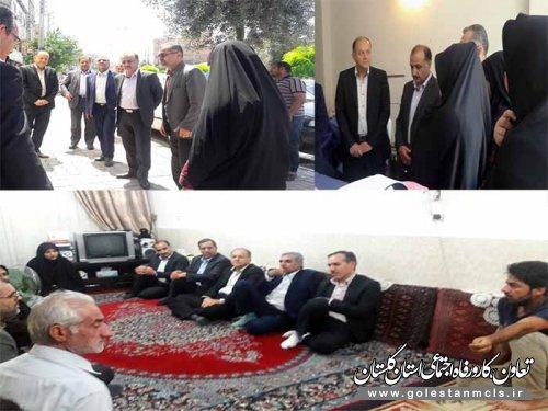 بازدید مدیرکل تعاون،کار و رفاه اجتماعی گلستان از طرح های مشاغل خانگی مددجویان کمیته امداد امام خمینی (ره)