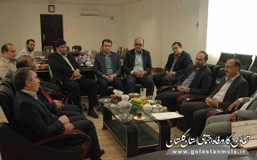دیدار مدیرکل تعاون،کار و رفاه اجتماعی گلستان با فرماندار گمیشان