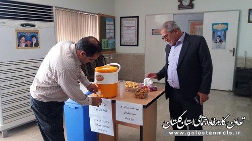 ایستگاه صلواتی به مناسبت عید غدیر خم در اداره تعاون و کار گنبد