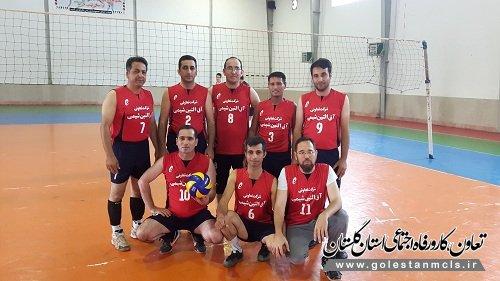 تیم اتاق تعاون گنبد قهرمان رقابت های والیبال بسیج گنبد شد