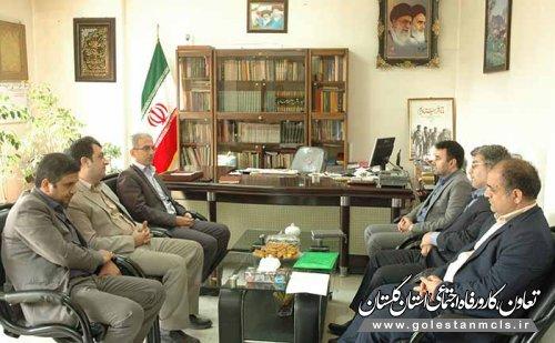 دیدار مدیر کل تعاون،کار و رفاه اجتماعی گلستان با فرماندار کردکوی