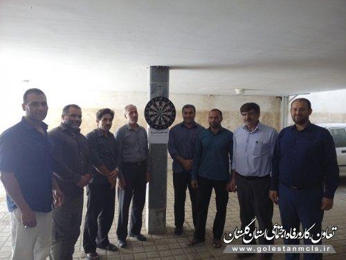 برگزاری مسابقات دارت و تیراندازی در علی آبادکتول به مناسبت هفته تعاون