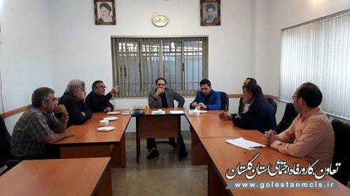 برگزاری جلسه مشترک با انجمن صنفی کارگری رانندگان کامیون شهرستان گنبدکاووس
