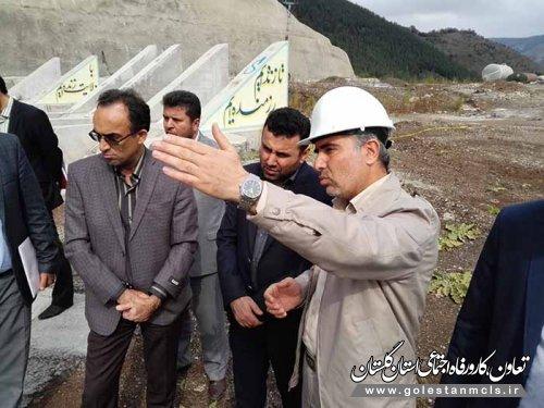 بازدید مدیران کل تعاون،کار و رفاه اجتماعی و تامین اجتماعی گلستان ازپروژه سد نرماب مینودشت