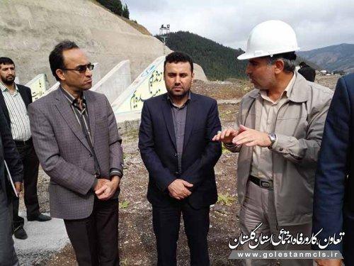 بازدید مدیرکل تعاون،کار و رفاه اجتماعی گلستان از پروژه سدنرماب مینودشت