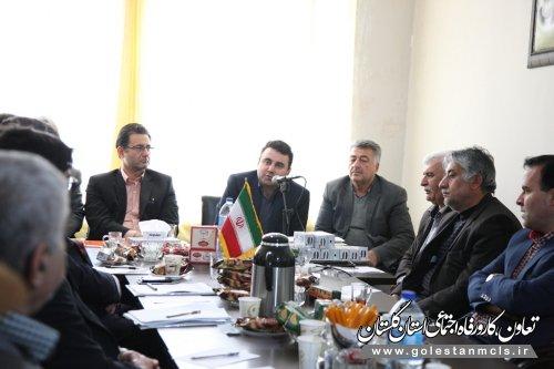نشست صمیمی مدیرکل تعاون کار گلستان با کانون بازنشستگان تامین اجتماعی