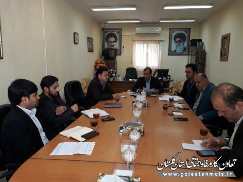 جلسه هماهنگی روند اجرایی تسهیلات مشاغل خانگی علی آبادکتول برگزار شد.