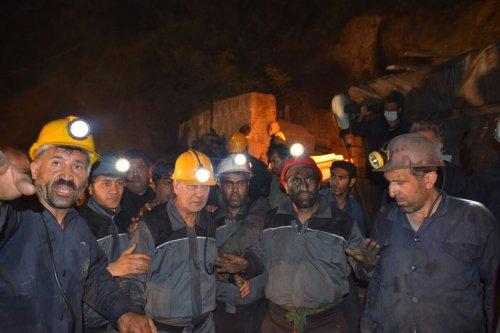 گزارش تصویری حضور وزیر تعاون کار و رفاه جتماعی در معدن آزادشهر