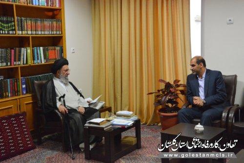 دیدار مدیر کل آموزش فنی وحرفه ای گلستان با نماینده ولی فقیه در استان