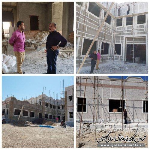 پیشرفت 65 درصدی فاز 1 ساختمان در حال ساخت مرکز آموزش فنی وحرفه ای شهرستان مراوه تپه