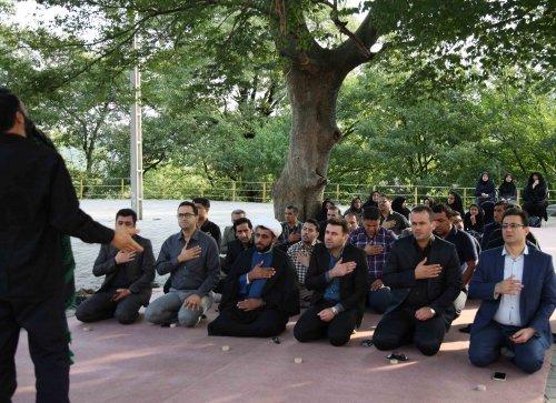 به مناسبت هفته دفاع مقدس برگزار شد: مراسم زیارت عاشورا و غبارروبی مزار شهدای گمنام با حضور کارکنان اداره کل تعاون کار ورفاه اجتماعی