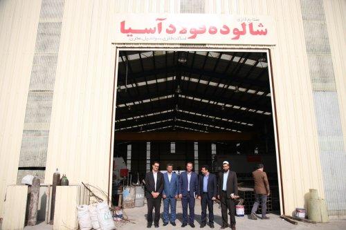 گزارش تصویری از بازدید مدیرکل تعاون کار و رفااه اجتماعی گلستان از شهرک صنعتی آق قلا